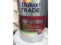 8 5litre tins of buttermilk masonry paint over £50 a tin in the shop £200 bargain