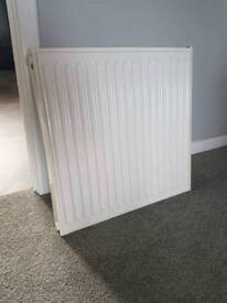 New 60cm by 60cm single radiator plus fittings