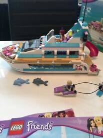 Lego Friends. Dolphin Cruiser . Complete with instructions and box .