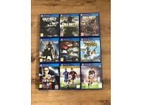 9 PS4 Games & 2 Steelcases