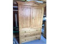 Original pine linen cupboard