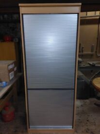 Roller shutter cabinet with shelves 2 available