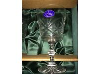 Royal Daulton boxed set of 6 crystal wine glasses