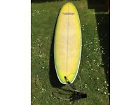 Surfboard for sale. Vudu Mini Mal surfboard 7'4''