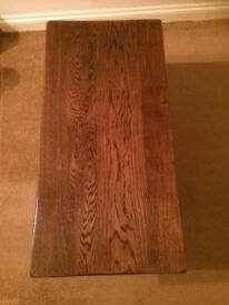 Old dark oak coffee table