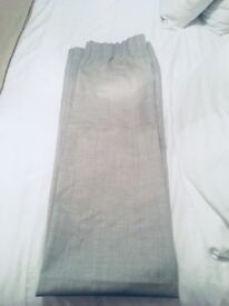 Dunelm mill new unused pencil pleat grey blackout 117x182 pair of curtains