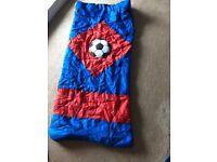 Kid's football sleeping bag