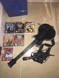 PS3 Guitar and microphones