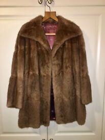 Vintage Brown 3/4 Length Fur Coat