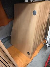 Beech desks flat pack various sizes