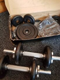 20kg dumbells set - fitness gym equipment