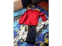 Next Boys red jumper and navy chinos 7 years