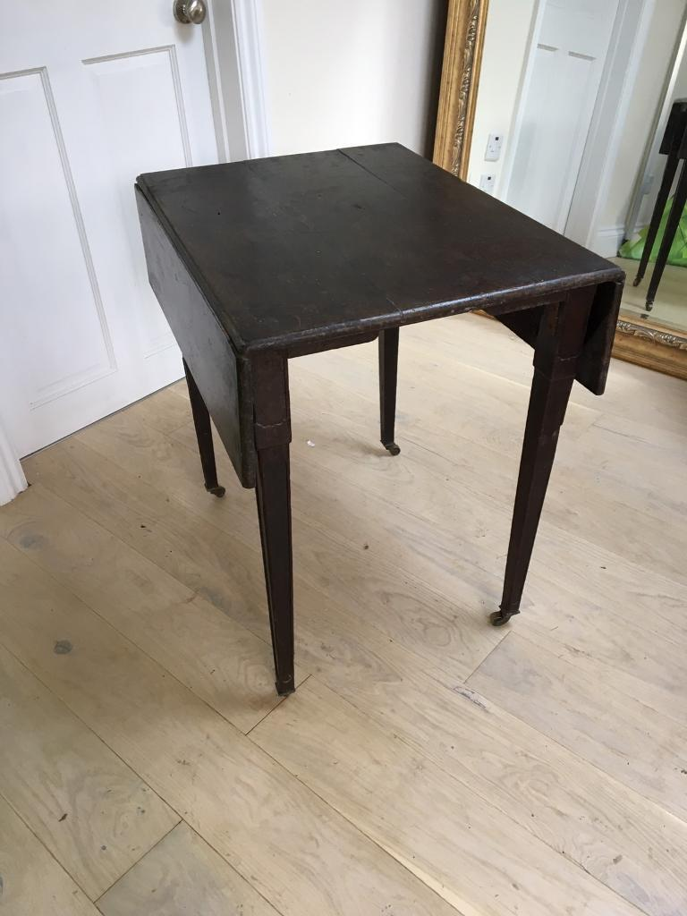 Vintage Solid Dark Wood Folding Card Table On Wheels In Richmond London Gumtree