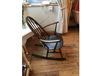 SUPER ERCOL ROCKING CHAIR IN GREAT CONDITION WITH AUTHENTIC LABEL