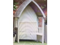 AFK Cottage Arbour In Mushroom And Cream Or Sage and Cream Bench