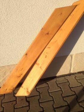 Extrem Balkon Geländer schräg zugeschnitten,Holz, Bretter in Bayern AM06