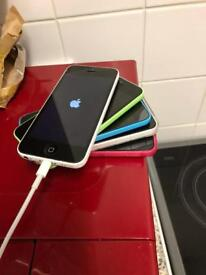 IPhone 5c white on o2