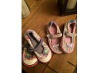 2 pairs Next shoes size 5