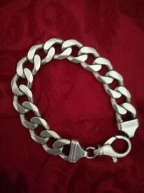 Silver bracelet. Very chunky