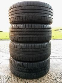 4x 225 40 18 92V CONTINENTAL WINTER TYRES 6.5mm TREAD M&S