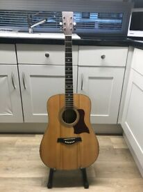 Tangle wood acoustic guitar