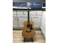 Tangle wood acoustic guitar