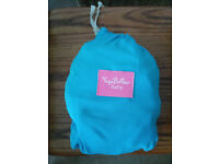 yoga bellies baby wrap, baby sling. excellent condition, blue colour