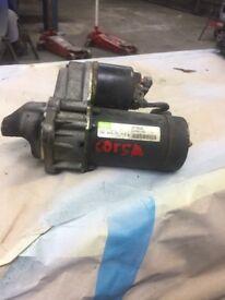 Vauxhall corsa starting motor