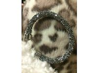 Swarovski Crystaldust Cuff Bracelet Grey