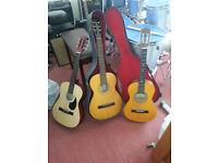 acoustic guitars x3