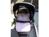 Quinny zapp extra, maxi cosi cabriofix carseat and belted maxi cosi base