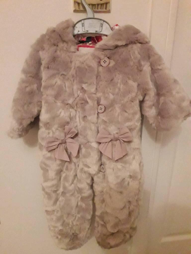 30febd811a1c Ted Baker baby faux fur snowsuit