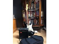 Stagg Electric Guitar, case and Amp
