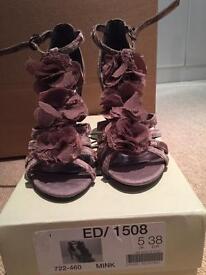 Women's size 5, mink heels. Brand new