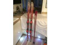 Fischer RC4 Supercarve 150cm Ski's with Tyrolia Bindings