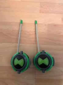 Ben 10 walkie talkies