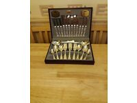 Viners 44 Piece Kings Royale Cutlery Set Silver Plated
