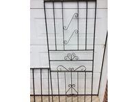 2 metal railings