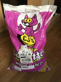 cat litter - wood pellets
