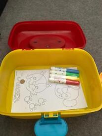 Brand new play dough box with extras