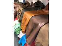 Leather Hides, Sheepskins, suede. Calfskin, cowhides, 100 skins for £15 each