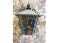 Vintage outside wrought iron lantern light