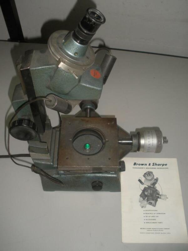 Brown & Sharpe Toolmakers Measuring Microscope