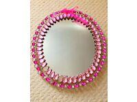 *** Beautiful Pink Gem Mirror ***