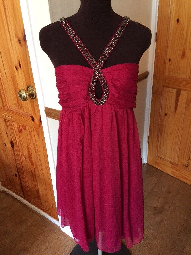 Ladies' crimson Lipsy dress size 12