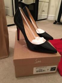 Genuine Christian Louboutin Pigalle 100 Black Patent Calf. Size 4
