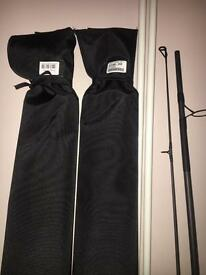 3 Nash toro carp rods top off the range used once look