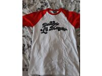 Ladies Harley Quinn tshirt, never been worn, size small.
