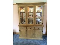 Display Cabinet / Dresser with mirrored back panel and integral lighting.