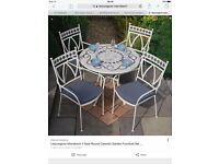 Outdoor table and 4 chairs. New in box